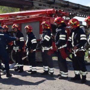 На території Черкаської ТЕЦ відбулися протипожежні навчання