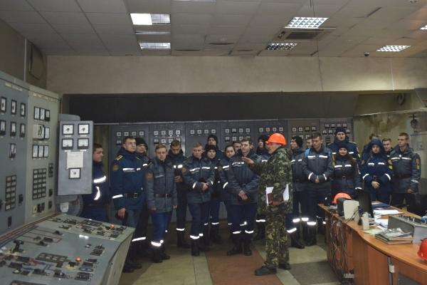Майбутні вогнеборці практикувалися на Черкаській ТЕЦ