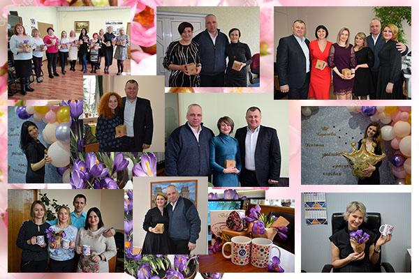 Чоловічий колектив Черкаської ТЕЦ привітав жінок підприємства з 8 Березня!