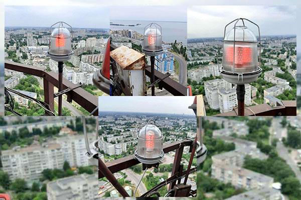 Черкаська ТЕЦ відновила освітлення димової труби Припортової котельні