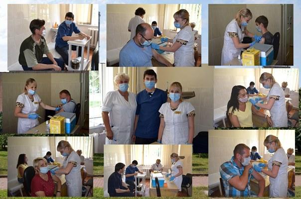 На Черкаській ТЕЦ провели 2 етап вакцинації працівників